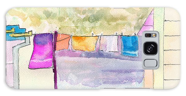 Clothes On The Line Galaxy Case