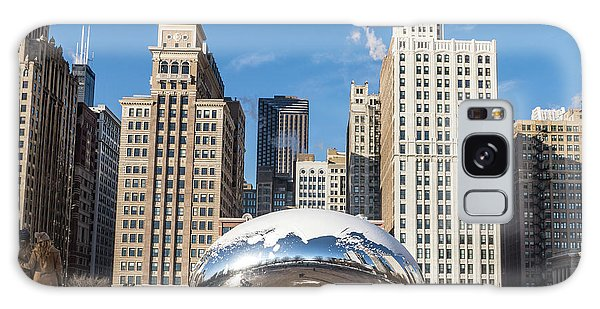 Cloud Gate To Chicago Galaxy Case