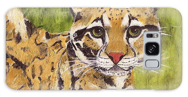 Galaxy Case featuring the painting Clouded Cat by Jamie Frier