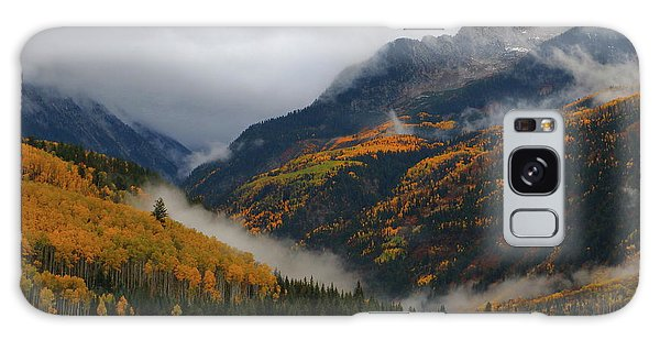Clouds And Fog Encompass Autumn At Mcclure Pass In Colorado Galaxy Case