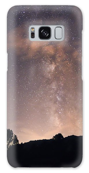 Galaxy Case featuring the photograph Clouds And Milky Way by Wanda Krack