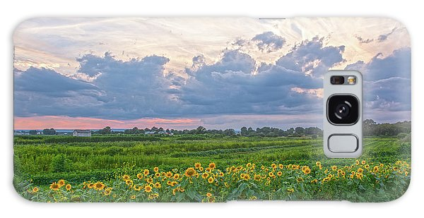 Clouds And Sunflowers Galaxy Case