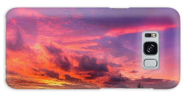Clouds At Sunset Galaxy Case