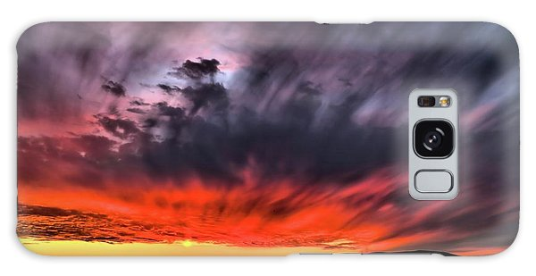 Clouds In Motion Before The Storm Galaxy Case by Vivian Krug Cotton