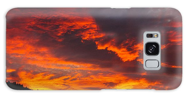 Clouds On Fire Galaxy Case