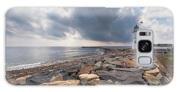 Clouds Over Old Scituate Light Galaxy Case