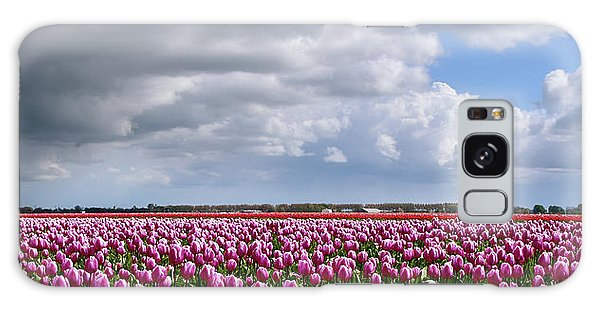 Clouds Over Purple Tulips Galaxy Case