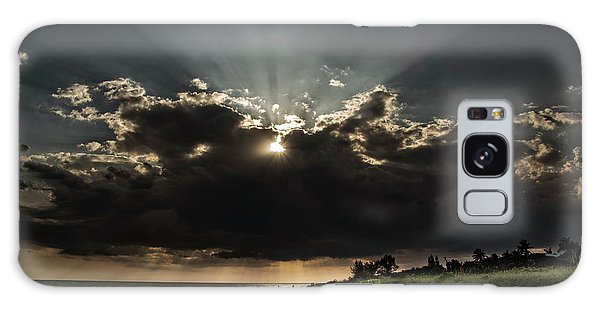 Clouds Over Sanibel Island Florida Galaxy Case