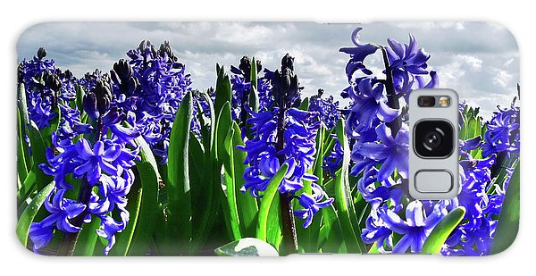 Clouds Over The Purple Hyacinth Field Galaxy Case by Mihaela Pater