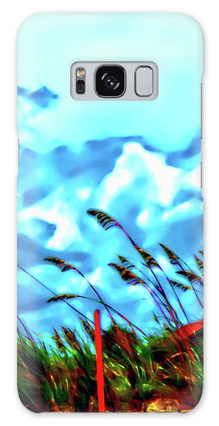 Clouds Over Vilano Beach Galaxy Case