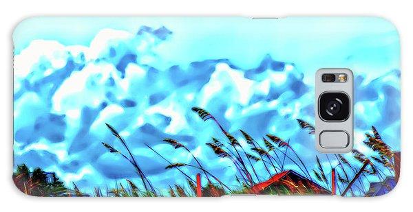 Clouds Over Vilano Beach Galaxy Case
