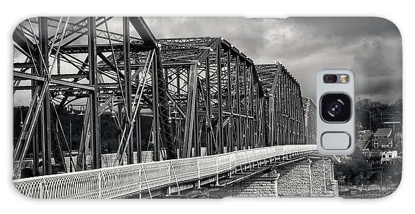 Clouds Over Walnut Street Bridge In Black And White Galaxy Case by Greg Mimbs
