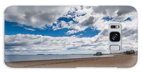 Cloudy Beach Day Galaxy Case