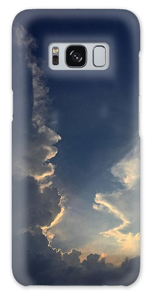 Cloudy Conversation Galaxy Case
