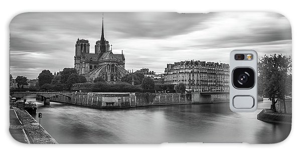 Cloudy Day On The Seine Galaxy Case