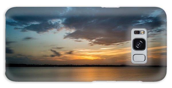 Cloudy Lake Sunset Galaxy Case