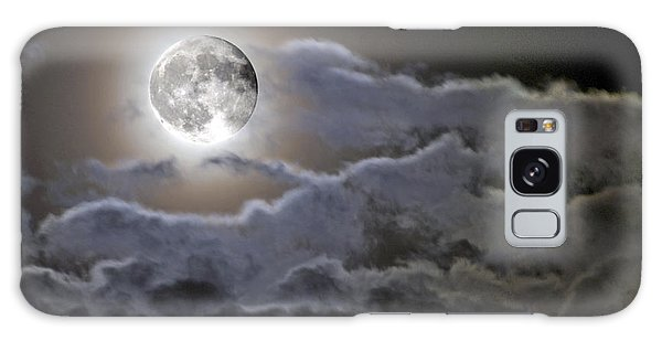 Cloudy Moon Galaxy Case