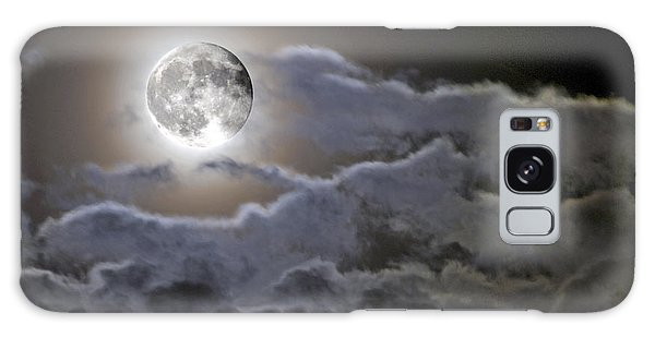 Cloudy Moon Galaxy Case