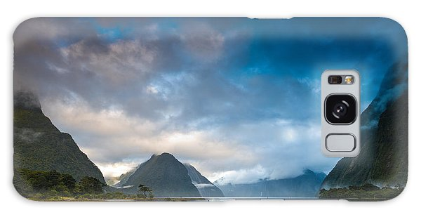 Cloudy Morning At Milford Sound At Sunrise Galaxy Case