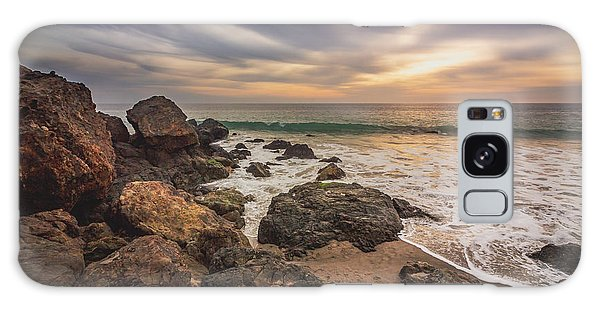 Cloudy Point Dume Sunset Galaxy Case