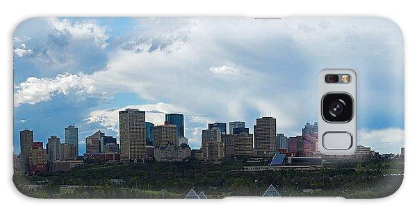 Cloudy Skyline Edmonton Galaxy Case