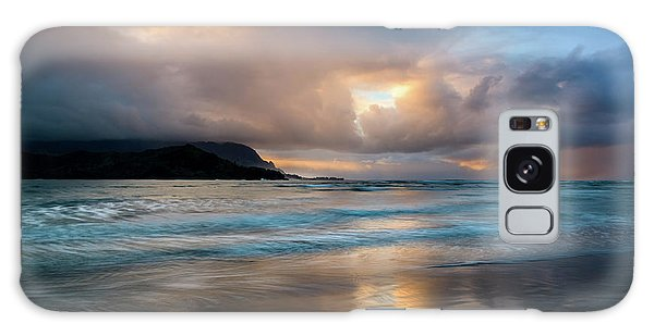 Cloudy Sunset At Hanalei Bay Galaxy Case