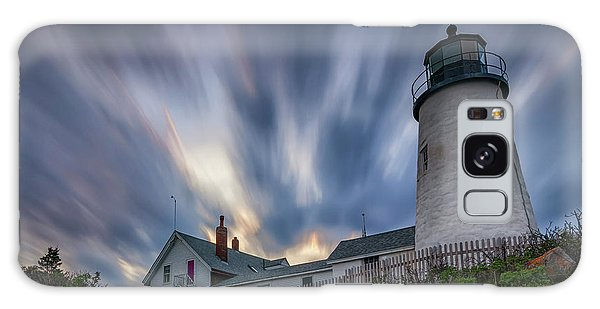 Cloudy Sunset At Pemaquid Point Galaxy Case