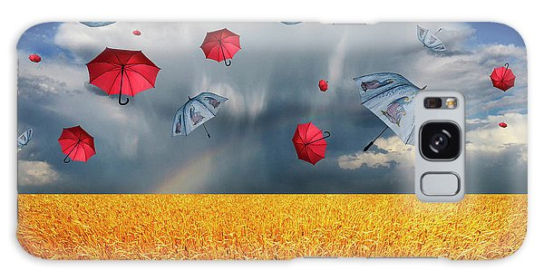 Cloudy With A Chance Of Umbrellas Galaxy Case