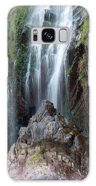 Clovelly Waterfall Galaxy Case