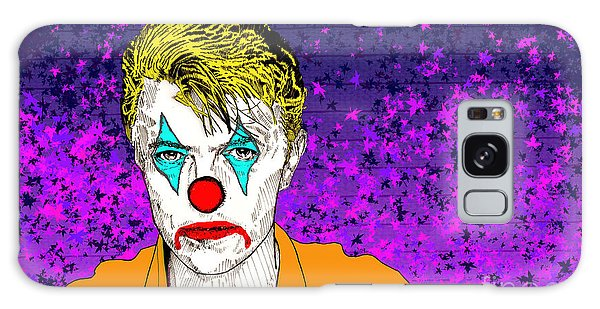 Clown David Bowie Galaxy Case by Jason Tricktop Matthews