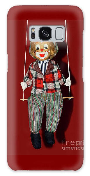 Galaxy Case featuring the photograph Clown On Swing By Kaye Menner by Kaye Menner