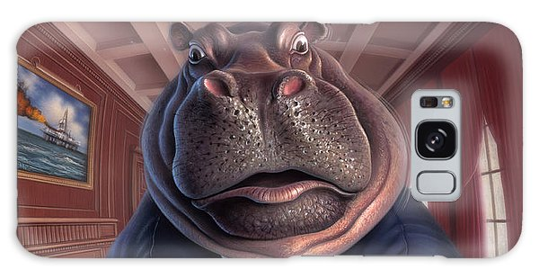 Hippopotamus Galaxy S8 Case - Clumsy by Jerry LoFaro