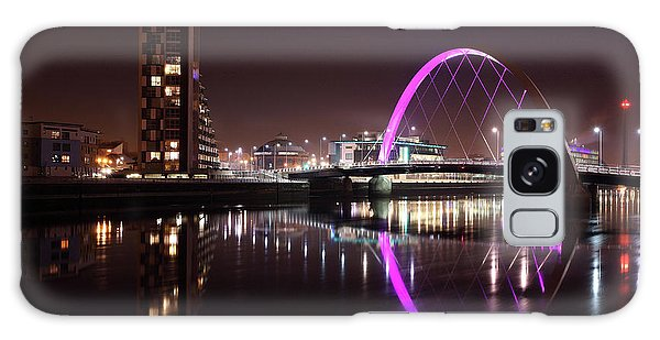 Clyde Arc Night Reflections Galaxy Case