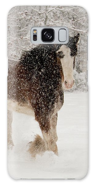 Clydesdale In The Snow Galaxy Case