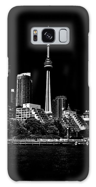 Galaxy Case featuring the photograph Cn Tower From Bathurst Quay Toronto Canada by Brian Carson