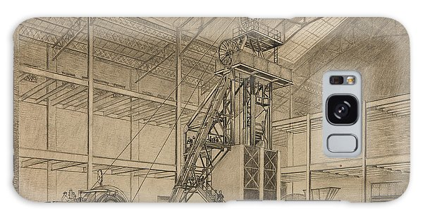 Pen And Ink Drawing Galaxy Case - Coal Mine Hoist by Percy Hale Lund