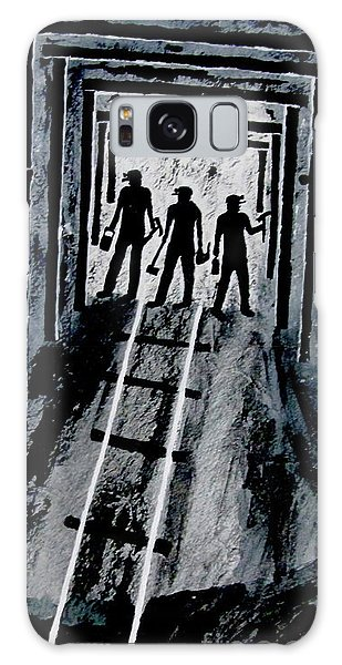 Coal Miners At Work Galaxy Case