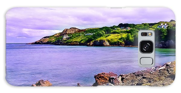 Rocky Coast At Howth Galaxy Case by Judi Bagwell
