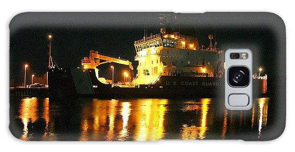 Coast Guard Cutter Mackinaw At Night Galaxy Case