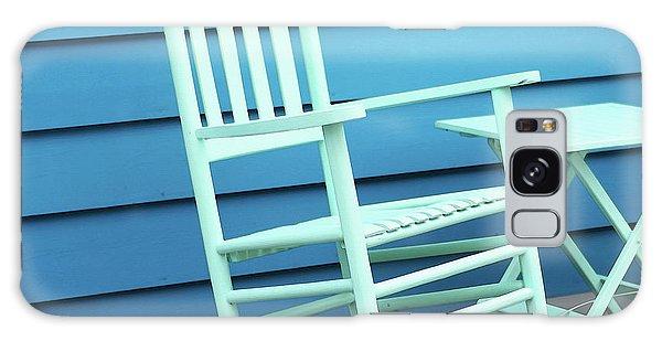 Bradenton Galaxy Case - Coastal Beach Art - Blue Rocking Chair - Sharon Cummings by Sharon Cummings