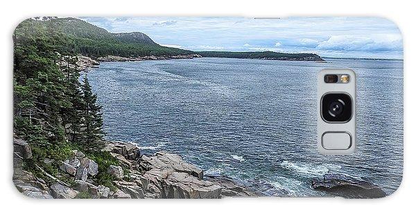 Coastal Landscape From Ocean Path Trail, Acadia National Park Galaxy Case