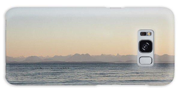 Coastal Mountains At Sunrise Galaxy Case