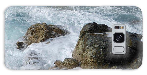 Coastal Rocks Trap Water Galaxy Case by Margaret Brooks