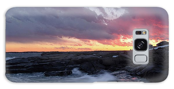 Coastal Sunset Cape Neddick - York Maine  -21056 Galaxy Case