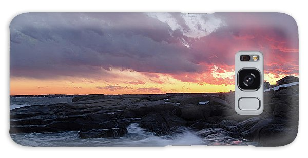 Coastal Sunset Cape Neddick - York Maine  -21056 Galaxy Case