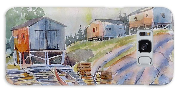 Galaxy Case featuring the painting Coastal Village - Newfoundland by David Gilmore
