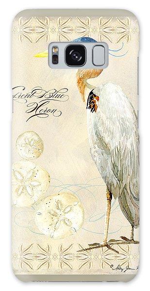 Coastal Waterways - Great Blue Heron Galaxy Case