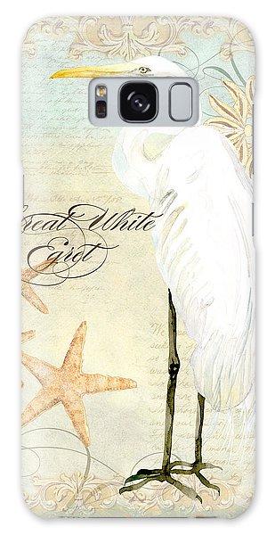 Coastal Waterways - Great White Egret 3 Galaxy Case