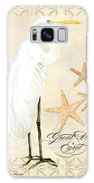 Coastal Waterways - Great White Egret Galaxy Case
