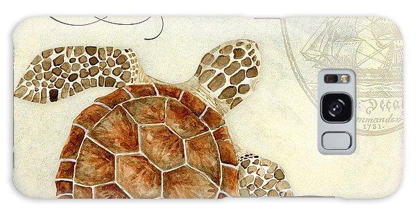 Coastal Waterways - Green Sea Turtle 2 Galaxy Case by Audrey Jeanne Roberts